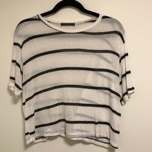 Stripe Brandy Melville Crop Top